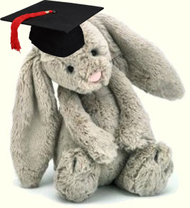 stuffedbunnygraduating